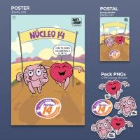 Póster, postal y stickers solidarios de JARTY&BRENY